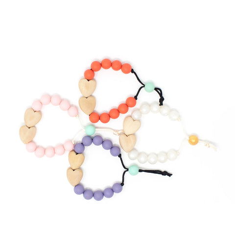 Hearts Hearts Hearts Bracelet - Children's Chewable Jewelry