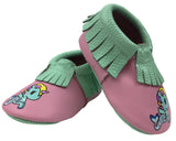 MOC HAPPENS™ LEATHER BABY MOCCASINS - SIRENA