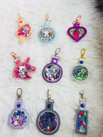 Bag Charms tags - Mixed