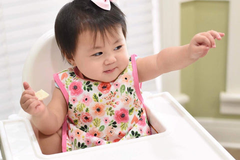 Bubblegum Pink Floral Bapron for Toddlers 6m-3T