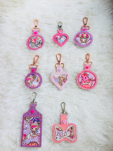 Bag Charms tags - Donutella Sweet Shop