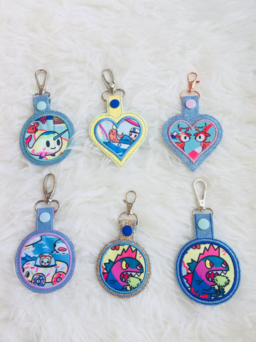 Bag Charms tags - Cali Dreamin