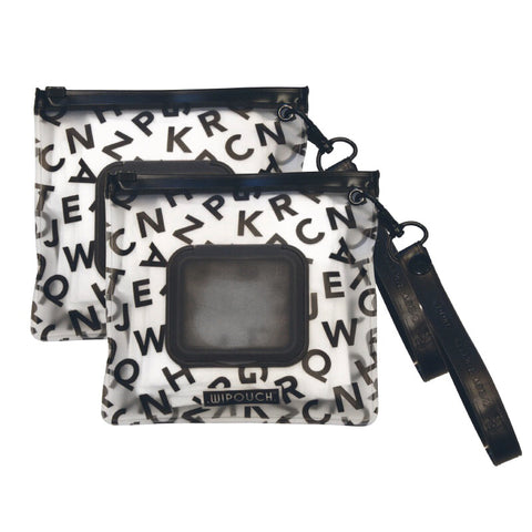 WIPOUCH mini Refillable Wet Wipes Pouch / Travel Pouch Case - Monochrome ABC