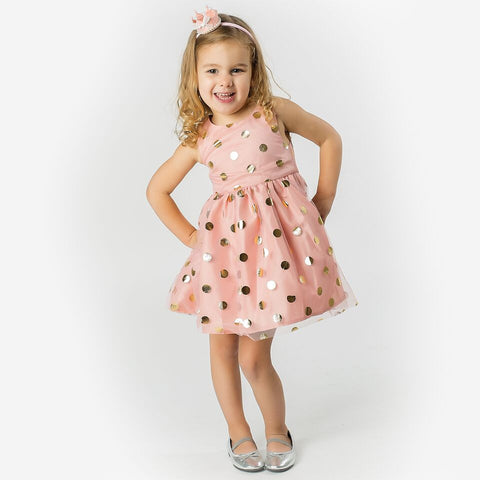 Ashleigh Spot Dress Pink