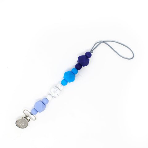 Jewel Pacifier Clip - Food Grade BPA Free Silicone