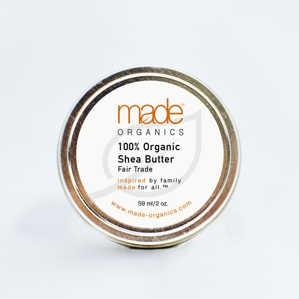 100% Organic Raw Unrefined Shea Butter - Made Organics