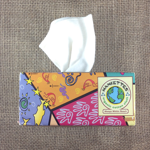 Box of 8 organic cotton handkerchiefs Radical Primitives design