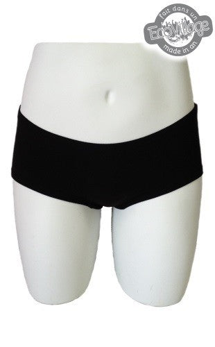Respecterre Ladies Boyshort in Black from Eco-Freako