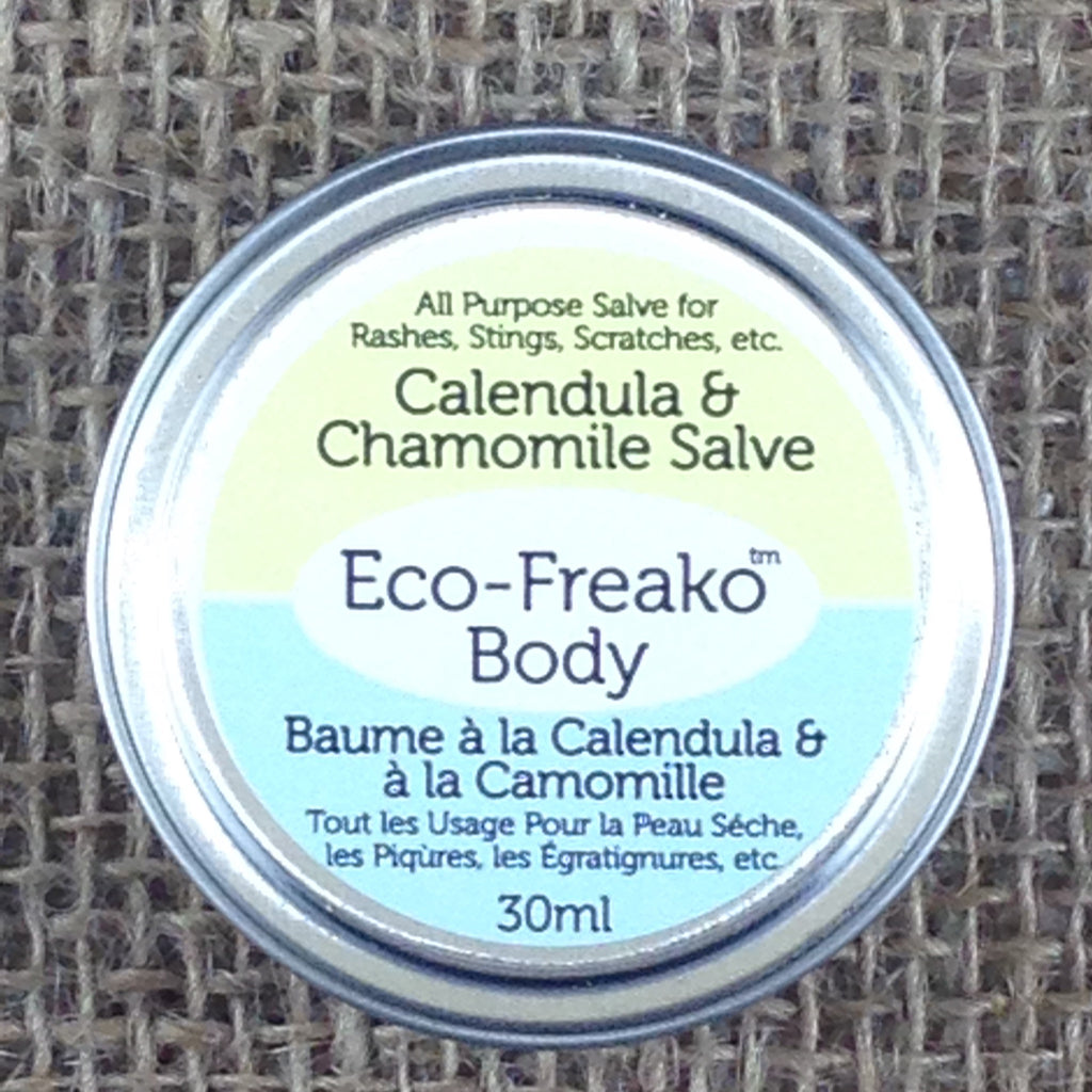 Eco-Freako Calendula Chamomile Salve in 30ml metal tin