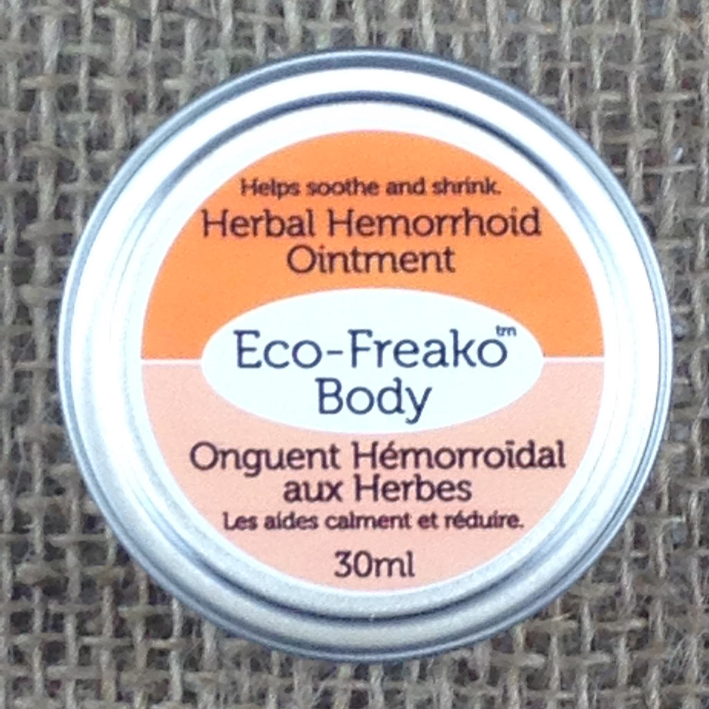 Eco-Freako Herbal Hemorrhoid Ointment in 30ml metal tin