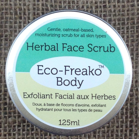 Eco-Freako Herbal Face Scrub in 125ml metal tin