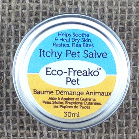 Eco-Freako Itchy Pet Salve in 30ml metal tin