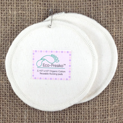 Eco-Freako Pack of 2 organic cotton Nursing Pads