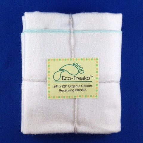 Organic Cotton Baby Receiving Blanket by Eco-Freako