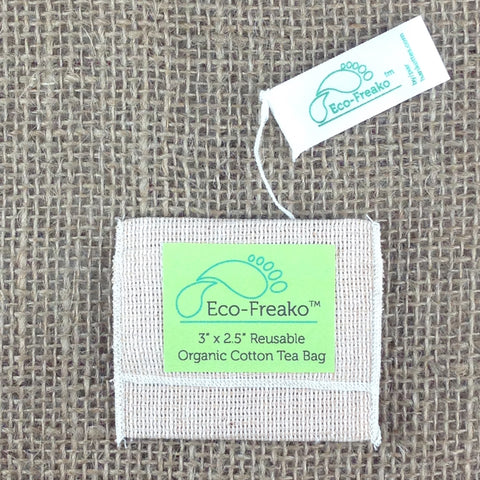Eco-Freako Reusable Organic Cotton Tea Bag