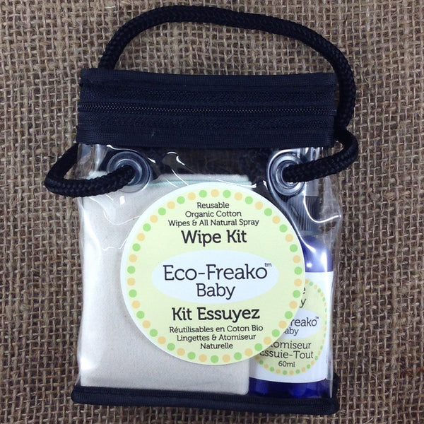 Eco-Freako Travel Size Reusable Wet Wipe Kit