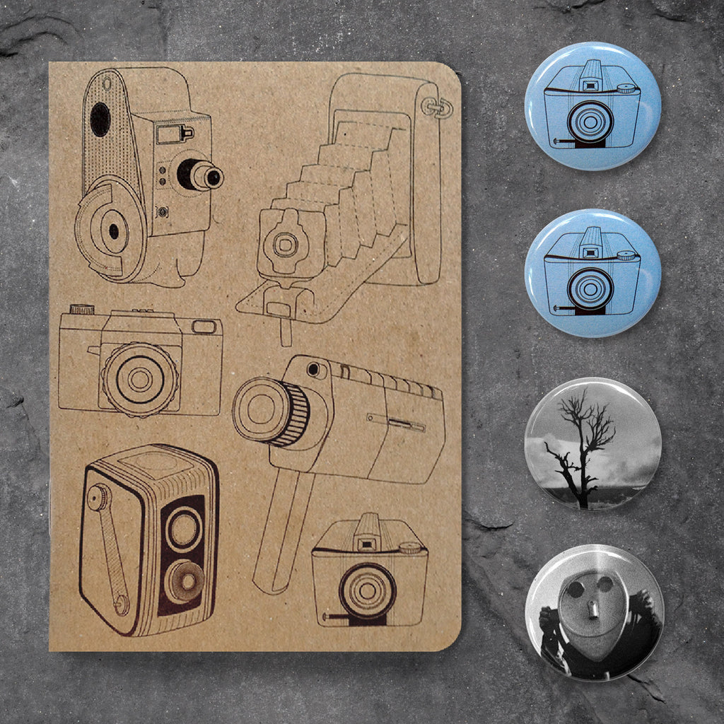 Camera Notebook Gift Package