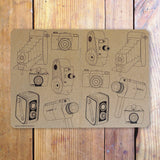 Cameras Galore pocket sketch notebook full view