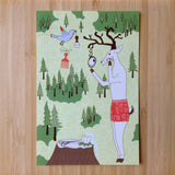 Shaving Deer Postcards (10 pack)