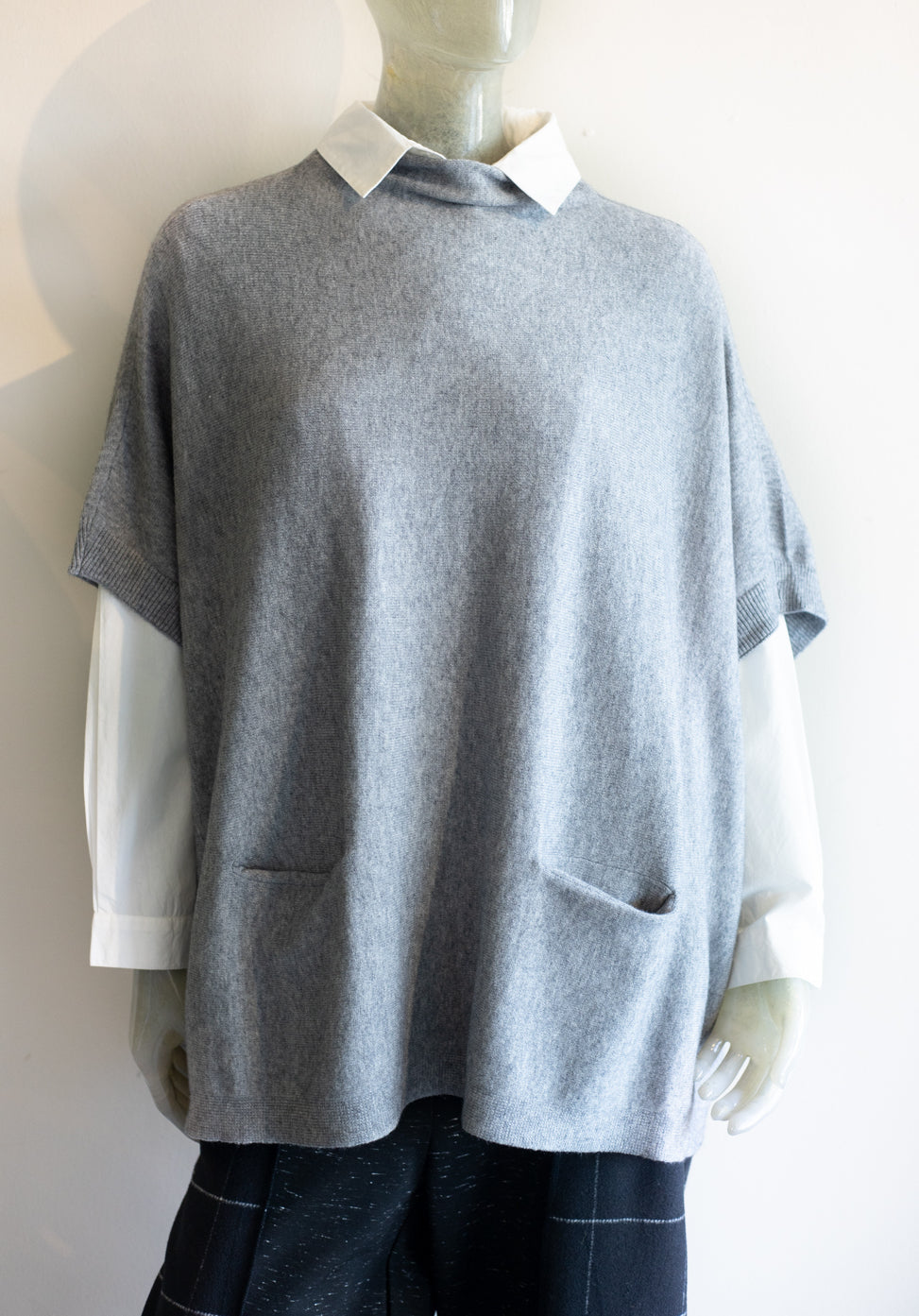 Mock Neck Poncho Sweater