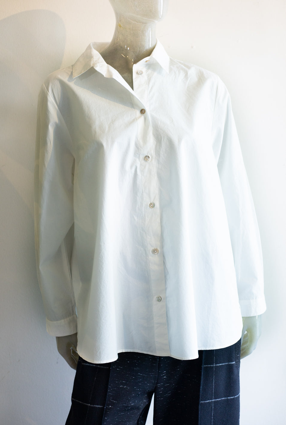 Two Danes White Button Up Blouse
