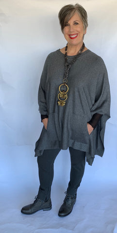 Planet Ribbed Pocket Poncho