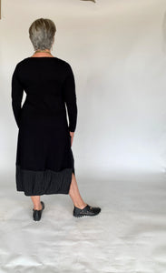 Luukaa Long Black Dress
