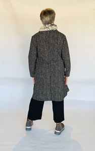 Baci Houndstooth 3 Button Overcoat