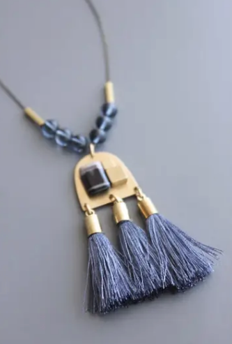 David Aubrey Silk Tassel Necklace