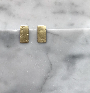 Small Rectangle Brass Studs