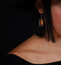 Load image into Gallery viewer, Mixed Metal Shield Earrings