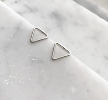 Load image into Gallery viewer, Small Triangle Sterling Silver Studs