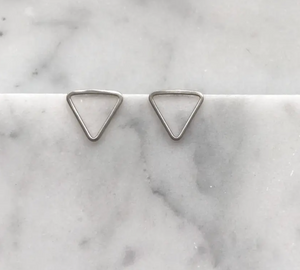 Small Triangle Sterling Silver Studs