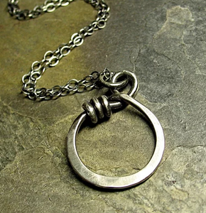 Wrapped O Pendant Necklace