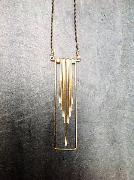 Rectangle Cascade Necklace