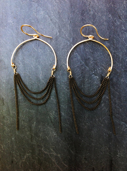 Round Chain Earrings