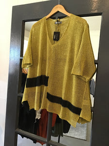 Alembika Handknit Color Block Sweater