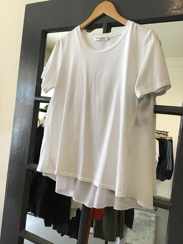 Baci White Short Sleeve Tee