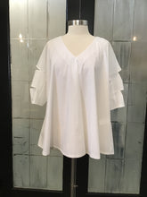Load image into Gallery viewer, Ozai White Cotton Poplin Blouse
