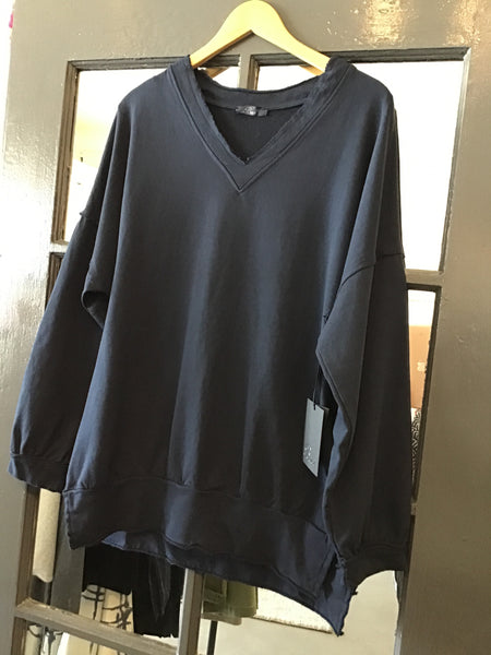 French Terry Knit Sweatshirt