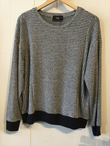 COA Striped Knit Blouse