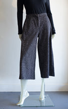 Load image into Gallery viewer, Baci Houndstooth Pleated Wide Leg Trousers