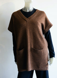Two Danes V-Neck Wool Slip Over Vest