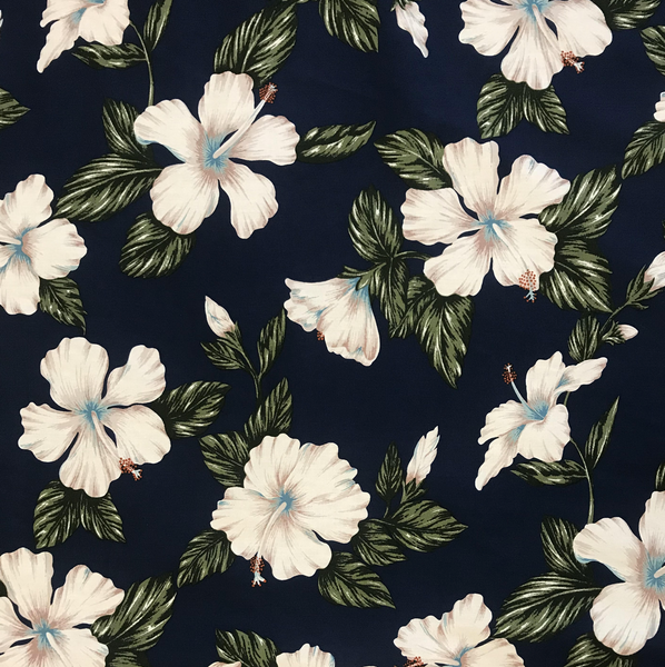 HIBISCUS NAVY FABRIC (2 YARDS)