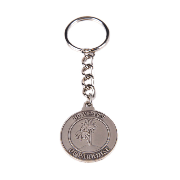SILVER 80TH KEYCHAIN