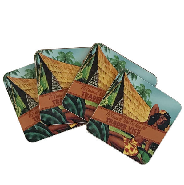 MAI TAI 75TH ANNIVERSARY COASTERS  (set of 4)