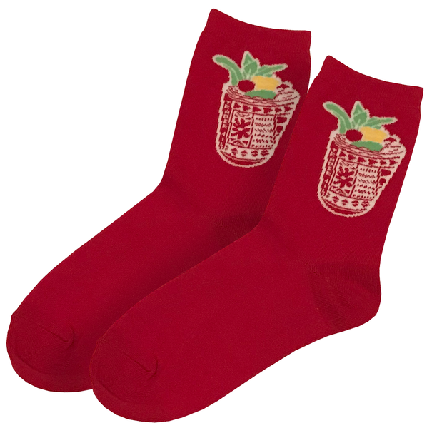 MAI TAI SOCKS (RED)