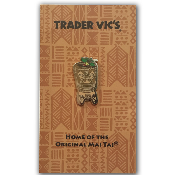 Trader Vic's Marquesan Drum Pin | Home of the Original Mai Tai