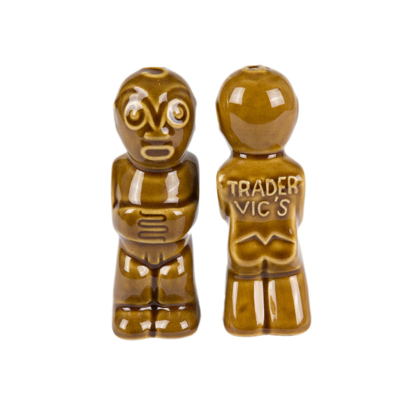 TIKI SALT & PEPPER SHAKERS