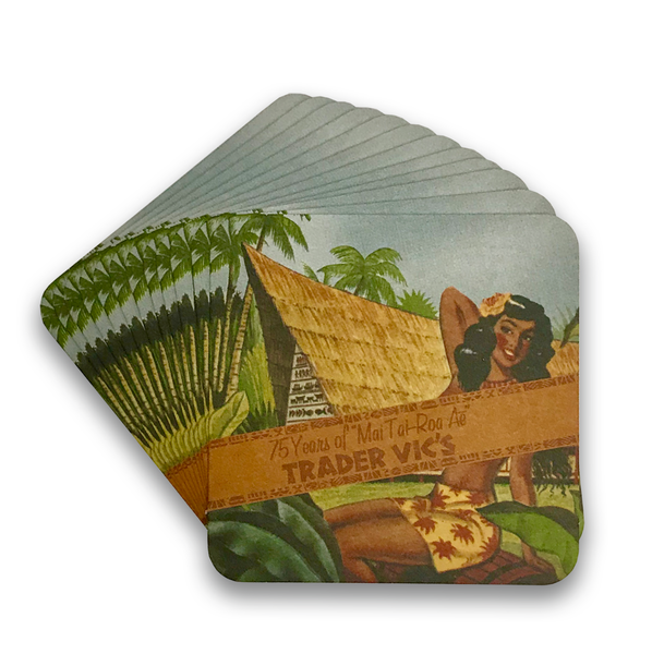 MAI TAI 75TH ANNIVERSARY COASTERS (12 PACK)
